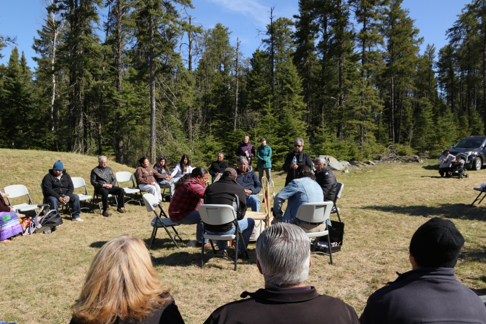 Sioux Lookout Meno Ya Win Health Centre sweat lodge site blessed
