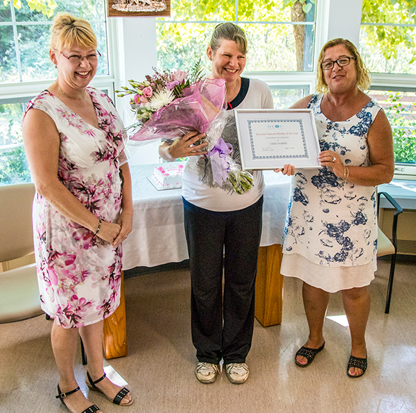 Lydia Harms recognized as OCHU PSW of the Year