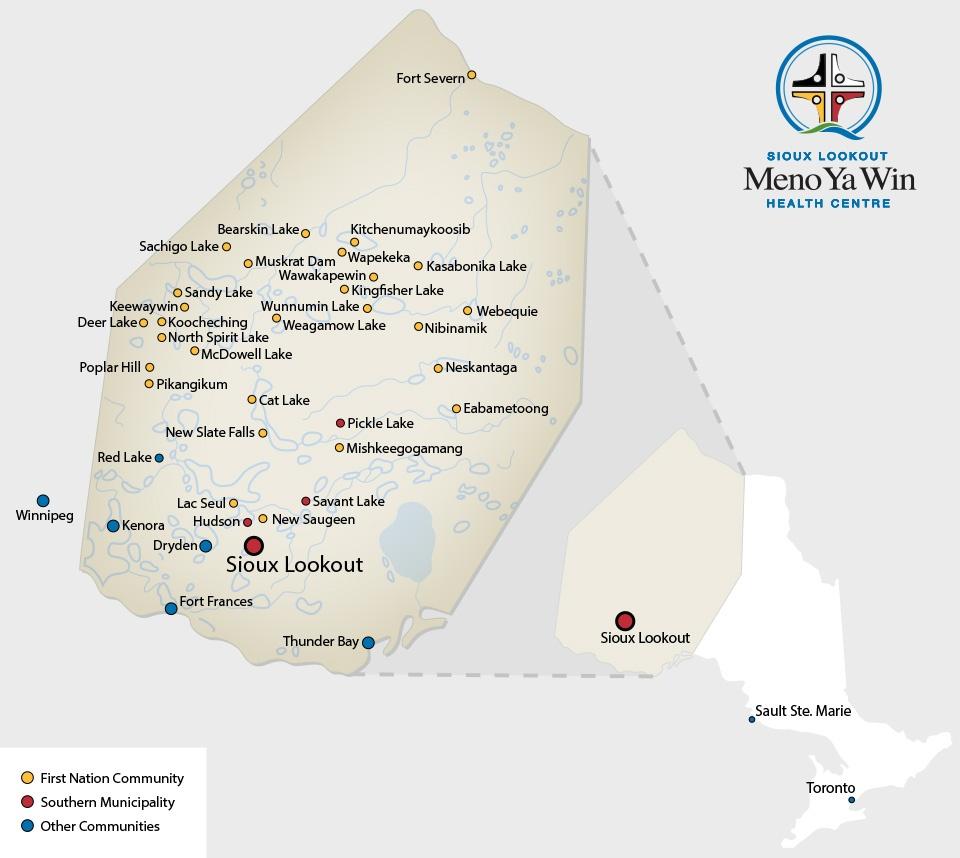 Sioux Lookout Meno Ya Win Health Centre :: Service Area